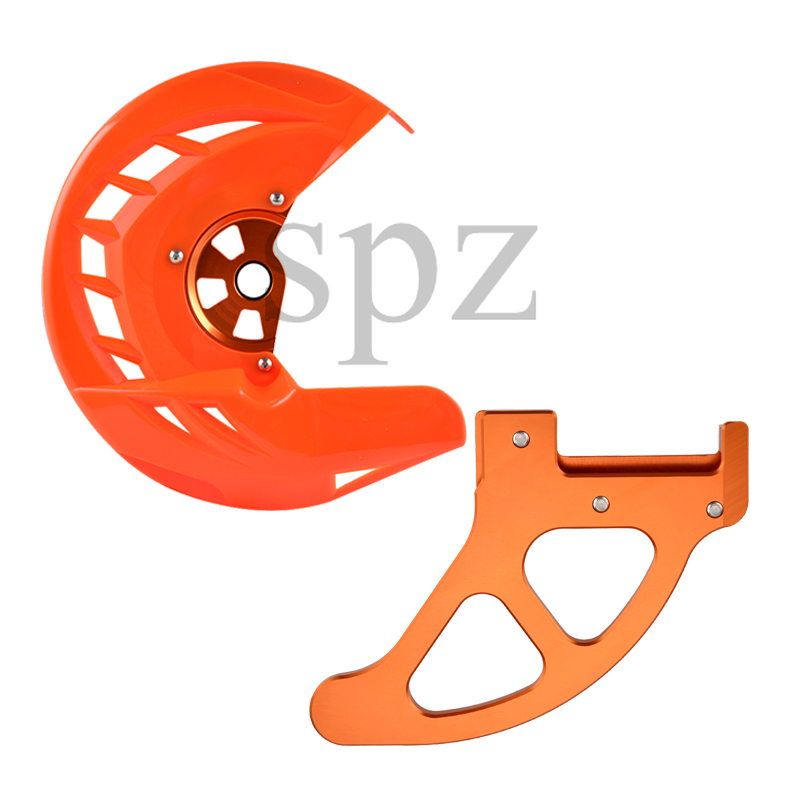 Front Rear Brake Disc Guard Protector for <font><b>KTM</b></font> <font><b>EXC</b></font> <font><b>EXC</b></font>-<font><b>F</b></font> SX-<font><b>F</b></font> SX XC XCF 125 200 250 300 <font><b>350</b></font> 400 450 525 530 <font><b>2016</b></font> 2017 2018 2019 image