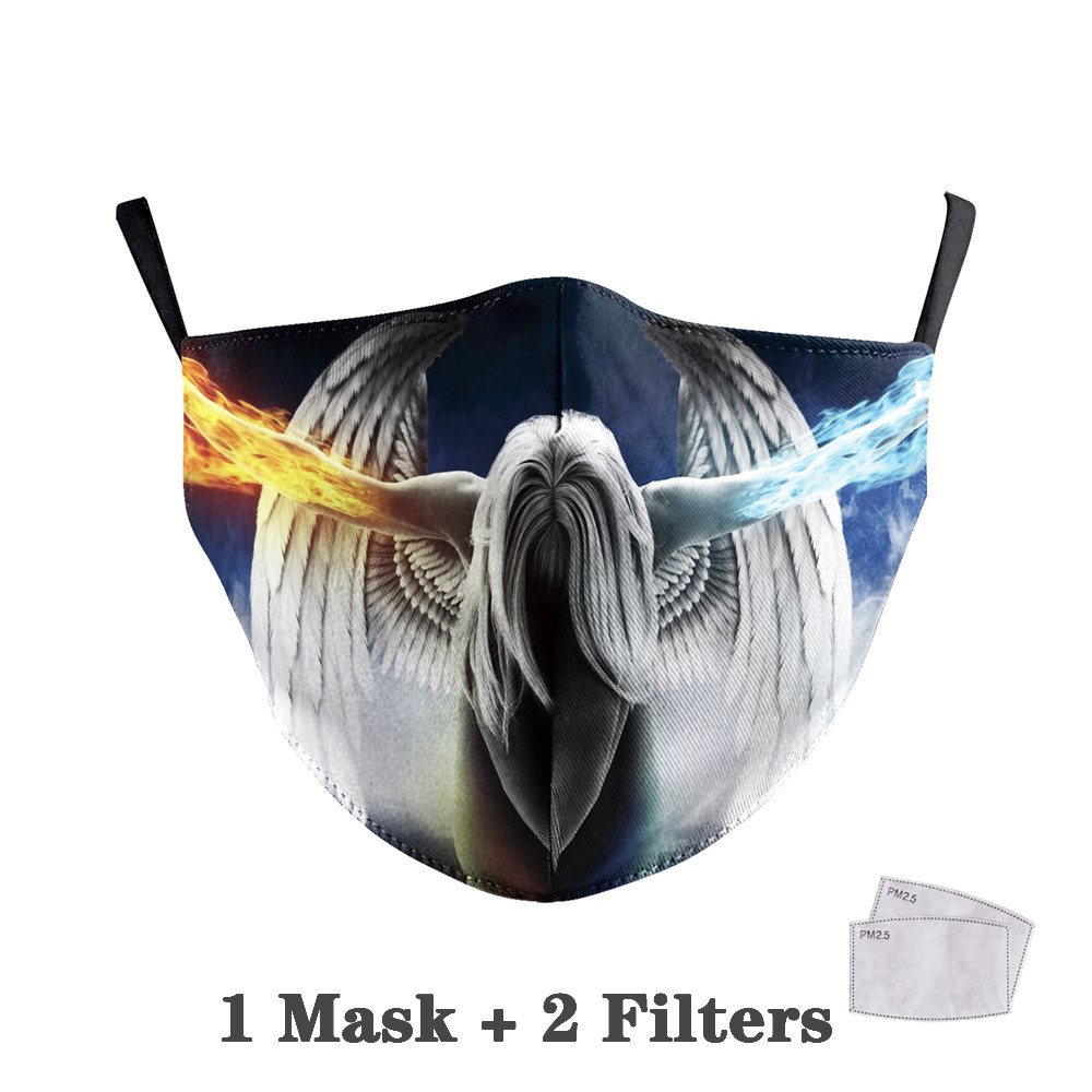 Washable Big Mouth Skull Face Masks 41