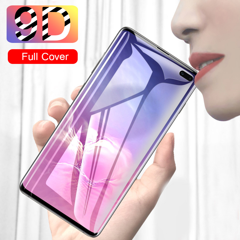 9D Coverage Tempered Glass For Samsung S20 Plus Ultra All Glue Phone Glass For Samsung Note 10 Plus Lite Full Coverage 9H-Hard