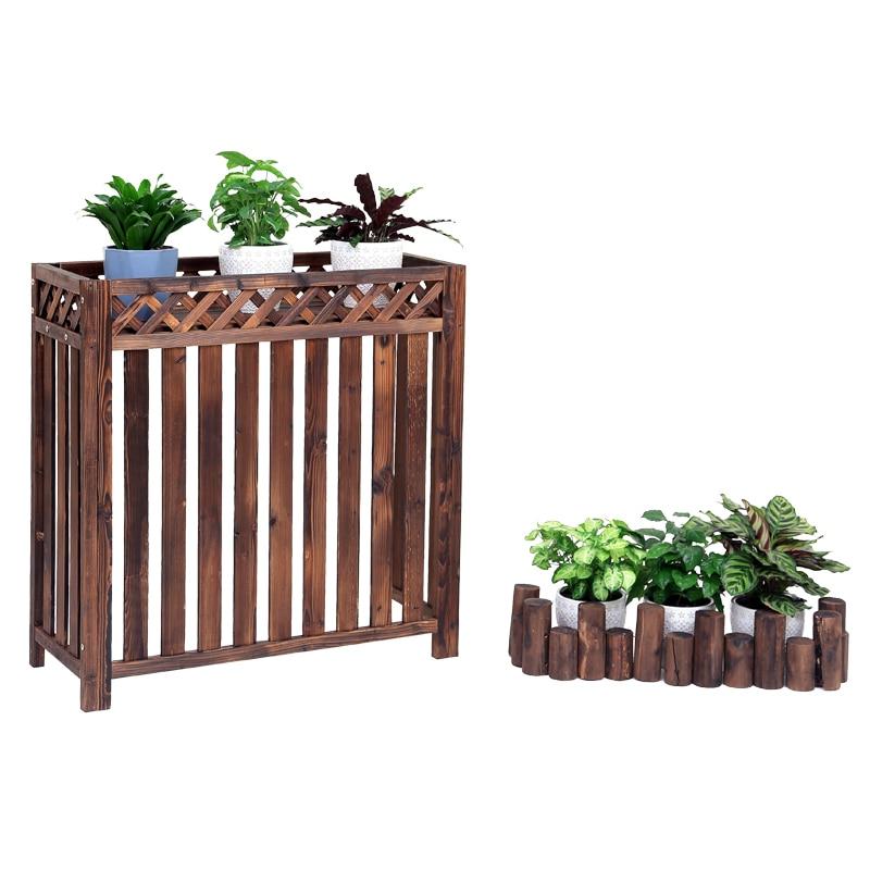 Aire acondicionado exterior máquina rack flor soporte decoración balcón exterior refugio aire acondicionado cubierta exterior un