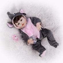 Hand Painted silicone Reborn Baby Dolls Alive Lifelike vinyl girl 48cm Realistic Bebes Babies toy Best for children