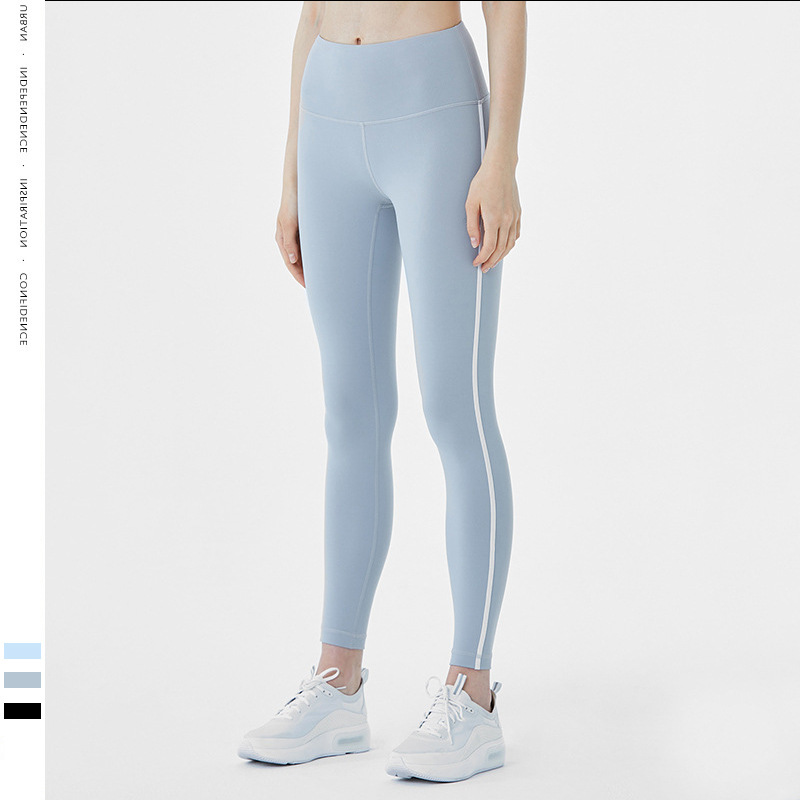 2019 New Style Sports Outdoor Seemless Yoga Pants Europe And America Cool Solid Color Yoga Clothes Leggings Women's
