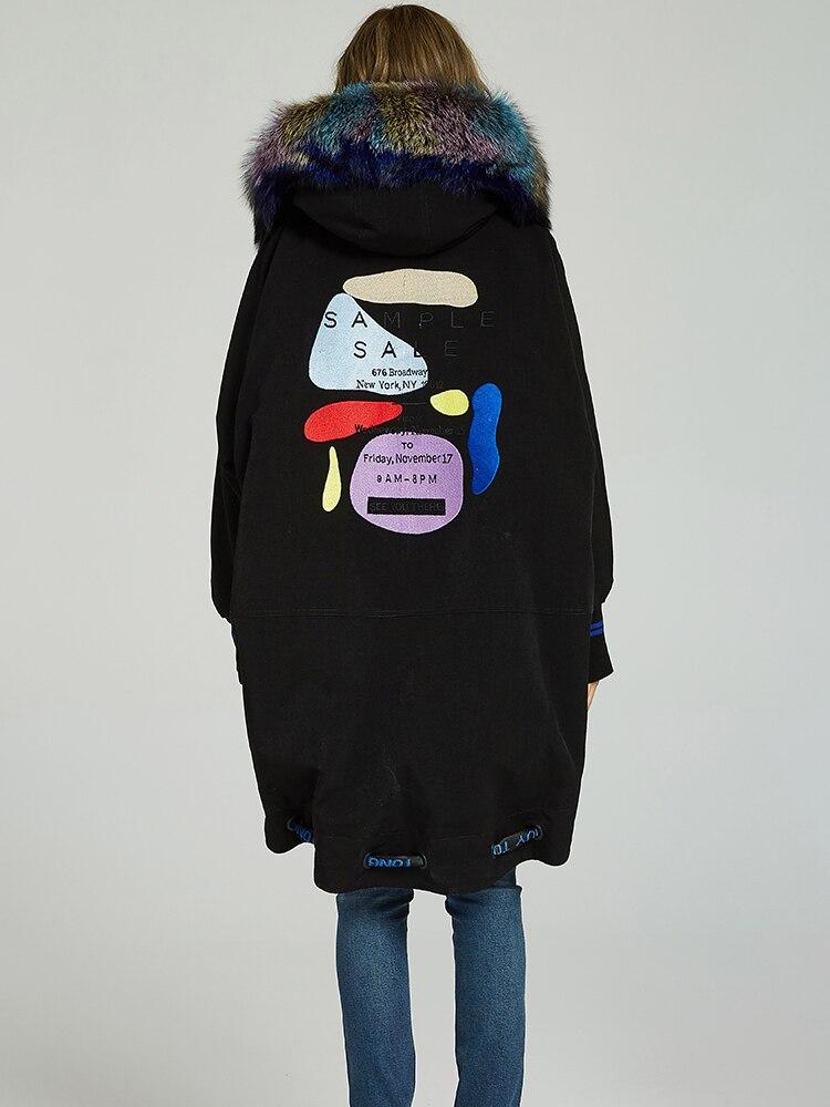 Real Fur Coat Female Natural Rex Rabbit Fur Liner Parka Winter Jacket Women Fox Fur Collar Korean Long Jackets 280412T
