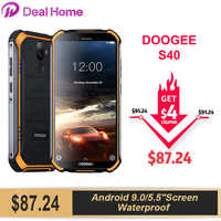 Doogee S40 5.5 Dello Schermo Impermeabile 3GB di RAM 32GB di ROM Per Smartphone MTK6739 Quad Core Android 9.0 4650mAh 8.0MP NFC 4G LTE Mobile Phone