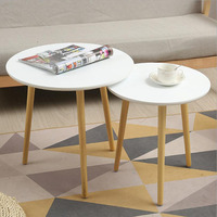 Modern Round Coffe Table for Living Room Furniture Sofa Side Table Desk Wooden Tea Table