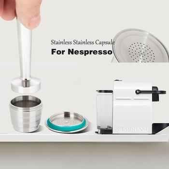ネスプレッソ詰め替えコーヒーカプセルポッドステンレス鋼のエスプレッソコーヒーフィルター改ざんカプセル reutilisable coffeeware ギフト 4 個 -