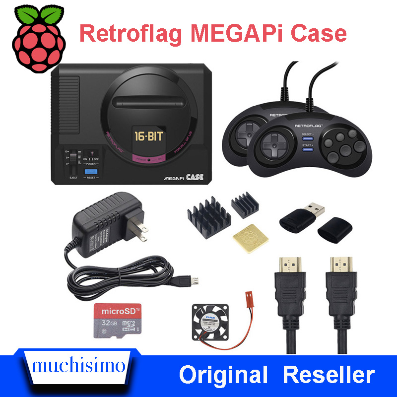 Retroflag MEGAPi Case / Game Controller Functional Button For Raspberry Pi 3 B Plus  3B+ / 3B / 2B Bundles