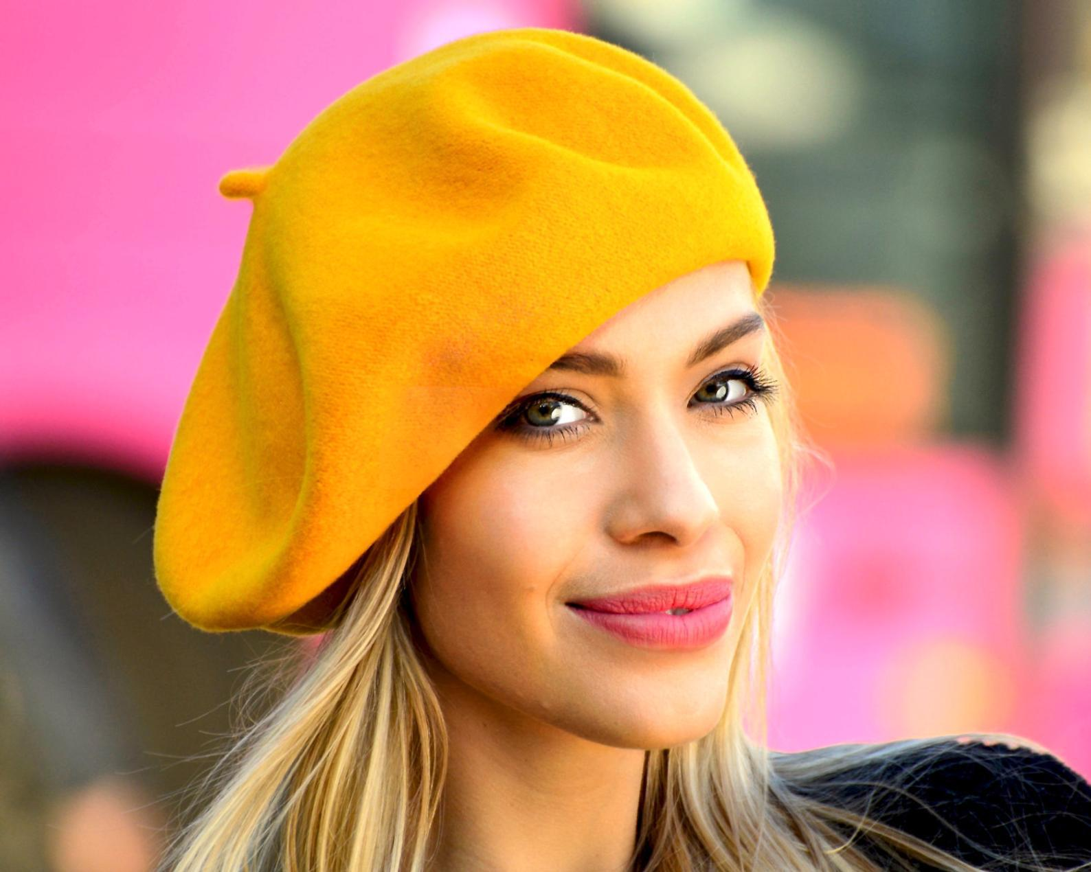 Autumn Winter Women Casual Wool Beret Hat Thick Large Hats Female Chic Felt Plain Blank Berets Hat 2019 Hot