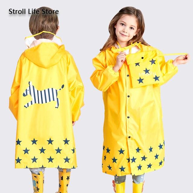 Girl Thickened Rain Coat Kids Yellow Rain Poncho Boy Cute Children Raincoat Rain Jacket Partner Waterproof Suit Impermeable Gift 1