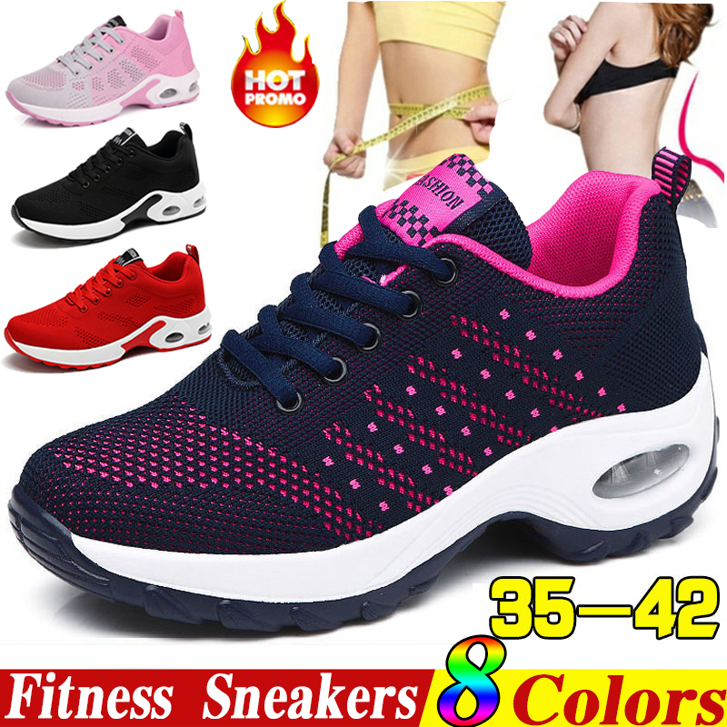 KAMUCC 2019 Platform Ladies Sneakers Breathable Women Casual Shoes Woman Fashion Height Increasing Sports Shoes Plus Size 35-42