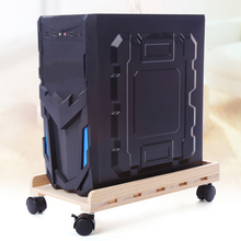 Computer Desktop Main Frame Movable Heat Dissipation Main Frame Movable Solid Wood Chassis Base