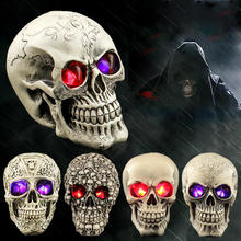 Halloween Human Prop Resin Skull LED Night Lights Decorative Novelty Pranksters Supplies For Party