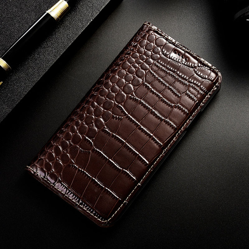 Image 3 - Magnet Natural Genuine Leather Skin Flip Wallet Book Phone Case Cover On For Huawei P20 P30 Lite Pro P 20 30 Light 64/128/256 GBFlip Cases   -
