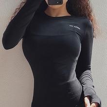 Рубашки Peeli с длинным рукавом для йоги, спортивный топ, топ для фитнеса и йоги, топ для тренажерного зала, спортивная одежда для женщин, женск...