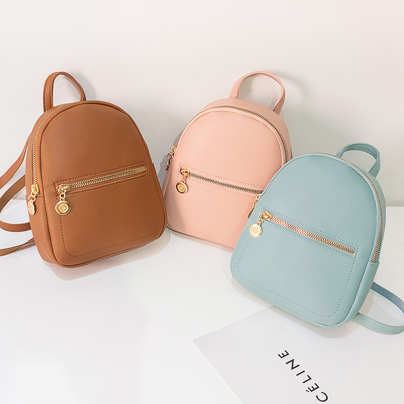 Mini Backpacks For Women Small School Bags For Teenage Girls Pink PU Leather Backpack Purse Bag Pack Cute Mochila Feminina