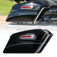 цена на Motorcycle Hard Saddlebags For Harley Touring Road King FLHRC Street Electra Glide Ultra Classic 2014-2020 2019 2018 ABS Black