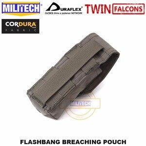Image 5 - MILITECH Tactical Flashbang łamanie etui TWINFALCONS TW złuszczona 500D Cordura wykonana torba na akcesoria Flash dym bomba etui