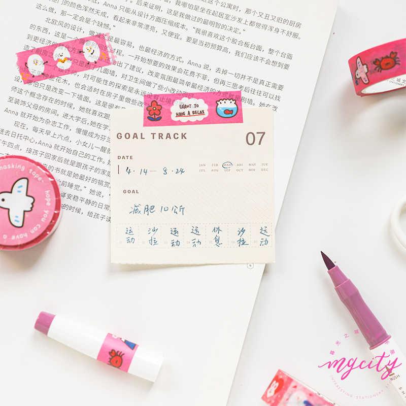 Cute Cat Etude series Journal Washi Tape DIY Scrapbooking Sticker Label Kawaii Masking Tape School Office Supply