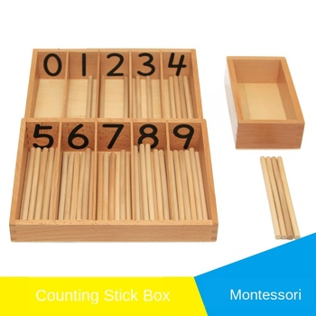 Wooden children's Montessori material Mathematics counting stick large early education educational cognitive toys montessori mathematics material toys for kids early learning multiplication