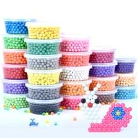 500 個プラスチックボックス packag 30 色 5 ミリメートル水ビーズスプレー aqua マジック教育 3D ビーズパズルアクセサリー子供のおもちゃ