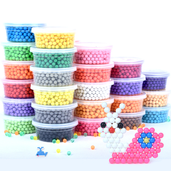 500Pcs Plastic box packag 30 Colors 5mm Water Beads Spray aqua Magic Educational 3D beads Puzzles Accessories for Children Toys