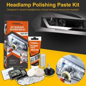 Image 2 - VISBELLA 헤드 라이트 복원 수리 키트 DIY 전조등 자동차 관리 수리 키트 헤드 램프 렌즈 천으로 기계로 깨끗한 폴란드어