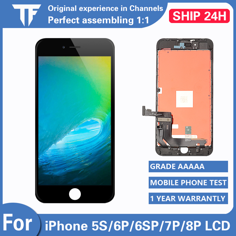 AAA+++ <font><b>LCD</b></font> Display For <font><b>iPhone</b></font> <font><b>5S</b></font> 6P 6SP touch <font><b>Screen</b></font> replacement Digitizer Assembly for <font><b>iPhone</b></font> 7P 8Plus <font><b>LCD</b></font> <font><b>Screen</b></font> No Dead Pixel image