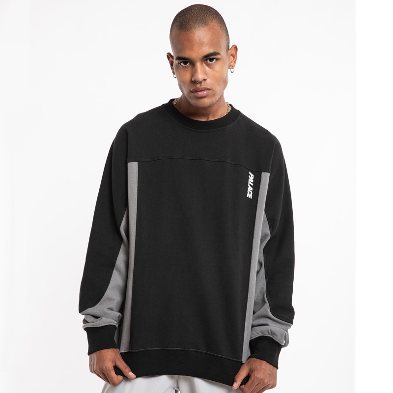 Palace Life Europe And America Popular Brand Men'S Wear Joint Reflective Lettered Night Running Crew Neck Loose-Fit Long Sleeve
