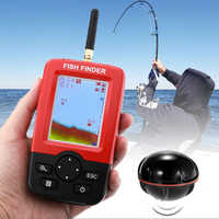 Smart Portable Depth Fish Finder with 100M Wireless Sonar Sensor Echo Sounder LCD Fishfinder for Lake Sea Fishing Saltwater