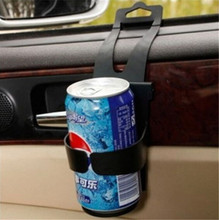 US Black Universal Vehicle Car Truck Door Mount Drink Bottle Cup Holder Stand Portable Outdoor Drink Food Holder(China)