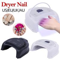 56W Rechargeable UV LED Gel Nail Lamp Art Polish Dryer Manicure Timer Light For All Gel Nails Art Curing Lamps