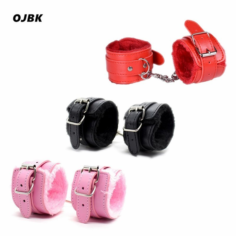 Image 4 - 2 Pcsset PU Leather Erotic Handcuffs Ankle Cuff Restraints With Whip BDSM Bondage Sex Toys Slave Set For Couple Adult Flogger    -