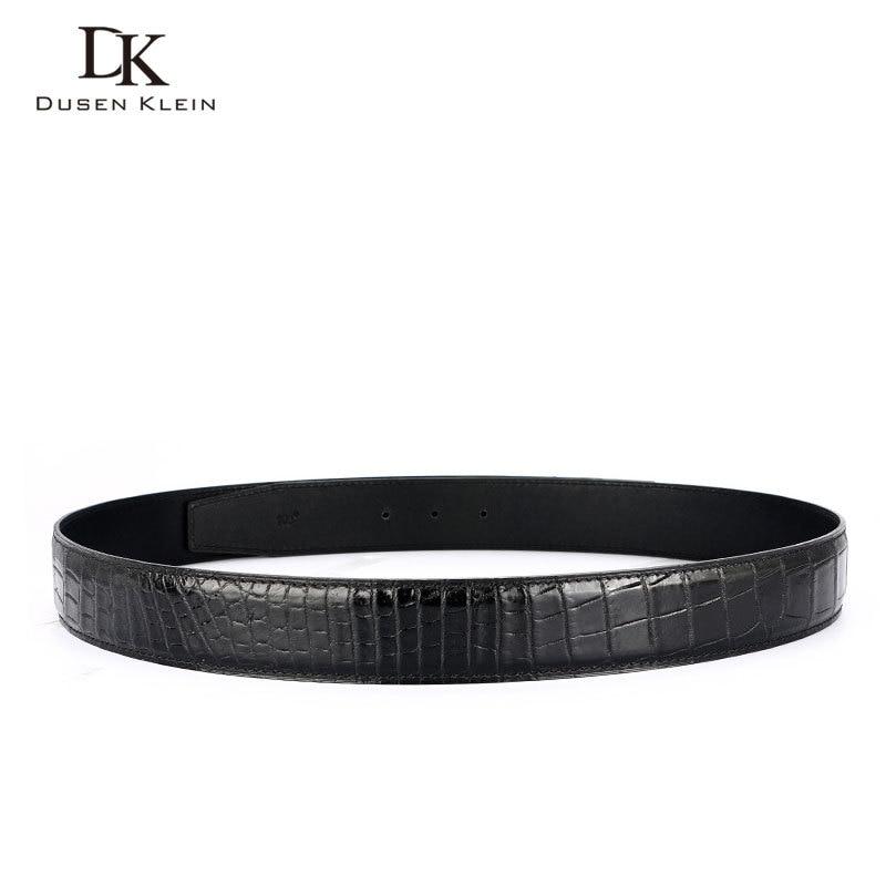 Véritable bracelet en cuir de crocodile pour ceinture Dusen Klein business décontracté en cuir véritable ceinture pour hommes DK R401 - 5