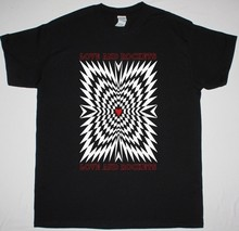 사랑과 로켓 사랑과 로켓 mens black t shirt 1989 gothic rock bauhaus(China)