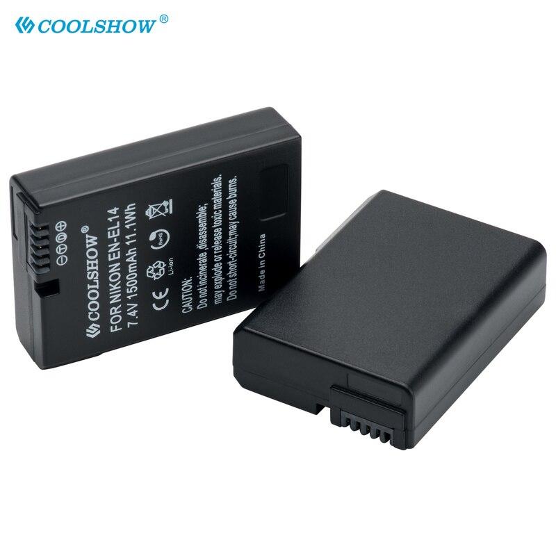 ENEL14 – Batterie EN-EL14 mAh, pour Nikon D5300 D5500 D5600 D5100 D5200 D3100 D3200 D3300 D3400 D3500 P7000 P7700 P7800 1500