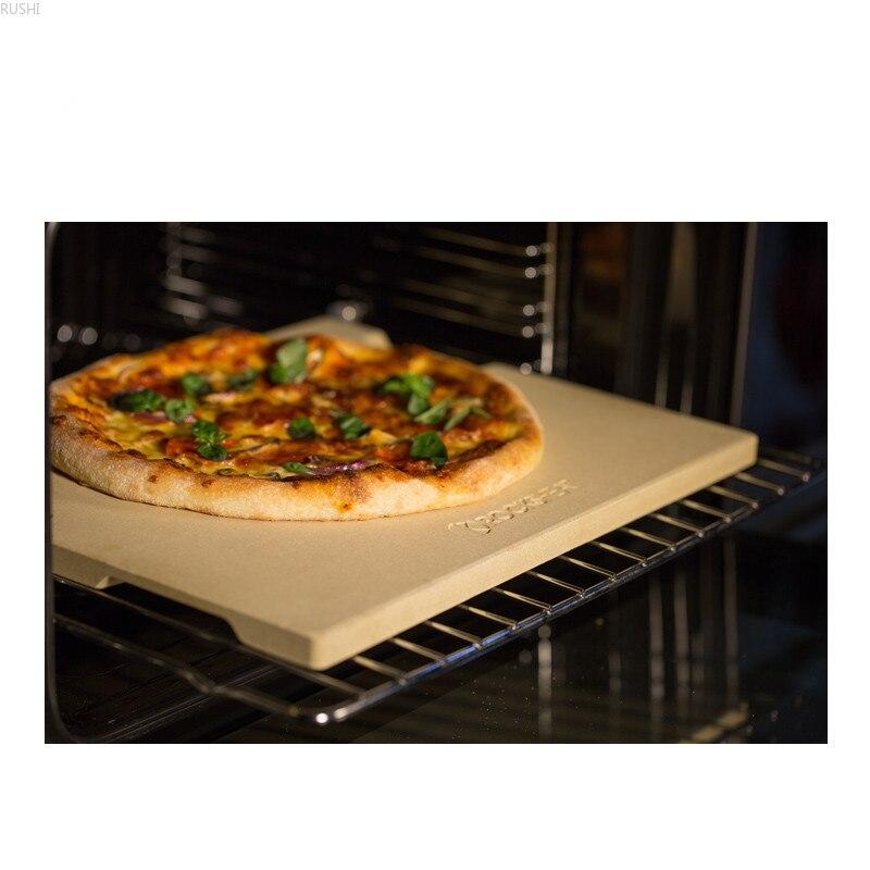 2 Shapes New Design Ardósia Pedra da Pizza Cordierite Forno de Cozimento de Pizza Placa de Cozimento com Alças Nos Dois Lados do Projeto Da Cozinha ferramentas - 5