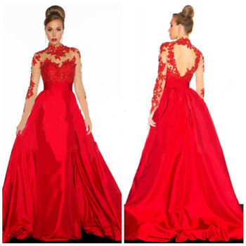 indian saree bridal for sale fashion backless high neck a-line long sleeve lace appliuqes red evening mother of the bride dress fashion high waisted hang neck dress for pregnant women wine red lace halter backless dresses long style ladies evening clothes