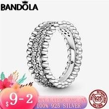 Роскошные 925 стерлингового серебра бисером проложить кольцо