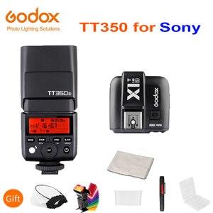 Image 1 - Godox Mini Speedlite TT350S Camera Flash TTL HSS GN36 + X1T S Transmitter for Sony Mirrorless DSLR Camera A7 A6000 A6500 A7RII