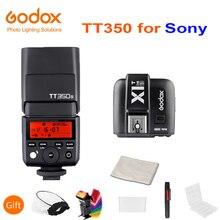 Đèn Flash Godox Mini Speedlite TT350S Camera Flash TTL HSS GN36 + X1T S Phát Cho Sony Mirrorless Máy Ảnh DSLR A7 A6000 A6500 a7RII