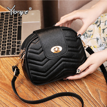 YBYT new striped crossbody bags for women Multi-layer pocket female shoulder bag PU leather luxury handbags designer