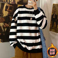 NiceMix Sweatershirt Hong Kong style Korean version of the trend of autumn and winter boys and girls students couples plus casua