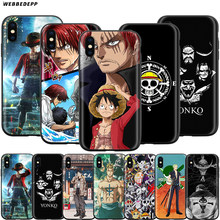 Webbedepp Anime una pieza Luffy caso para Apple iPhone 11 Pro XS Max XR 8X8 7 6 6S Plus 5 5S SE(China)