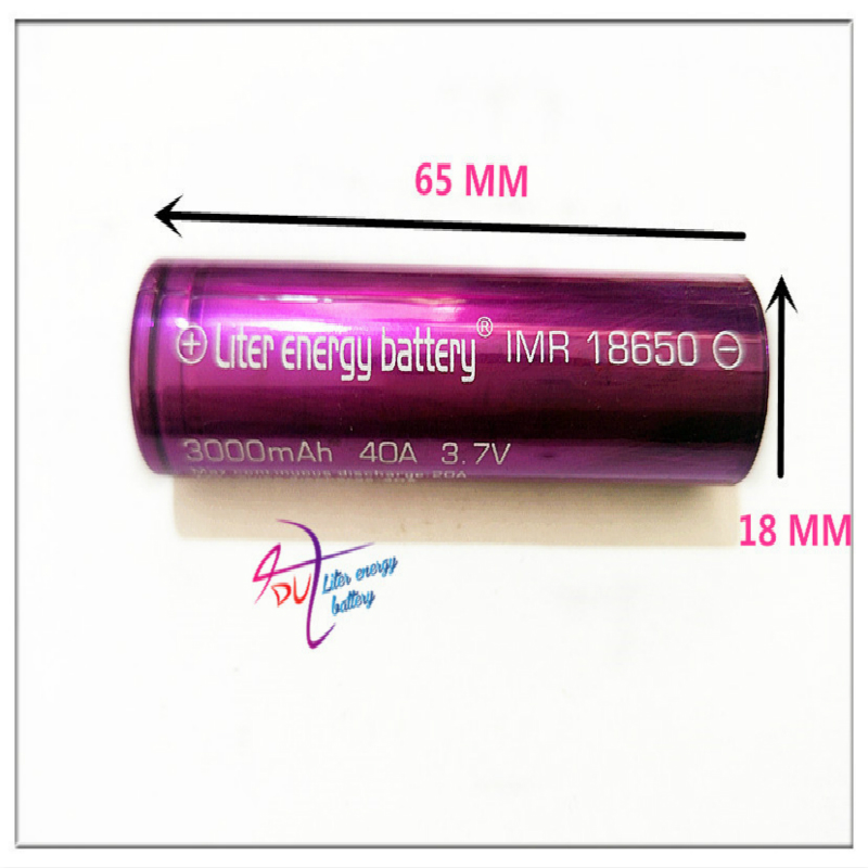 Liter energy battery Electronic Cigarette battery 18650 3000mah 40a Li-Mn battery and battery case for vtwo RX2/3 <font><b>RX200s</b></font> image