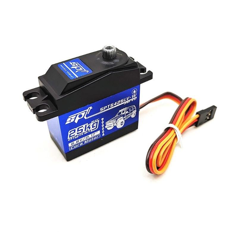 SPT5425LV-W 25KG 90 Degrees Digital Servo For 1:8 1:10 RC Car Boat Robot Toys for Children RC Car Parts 634F