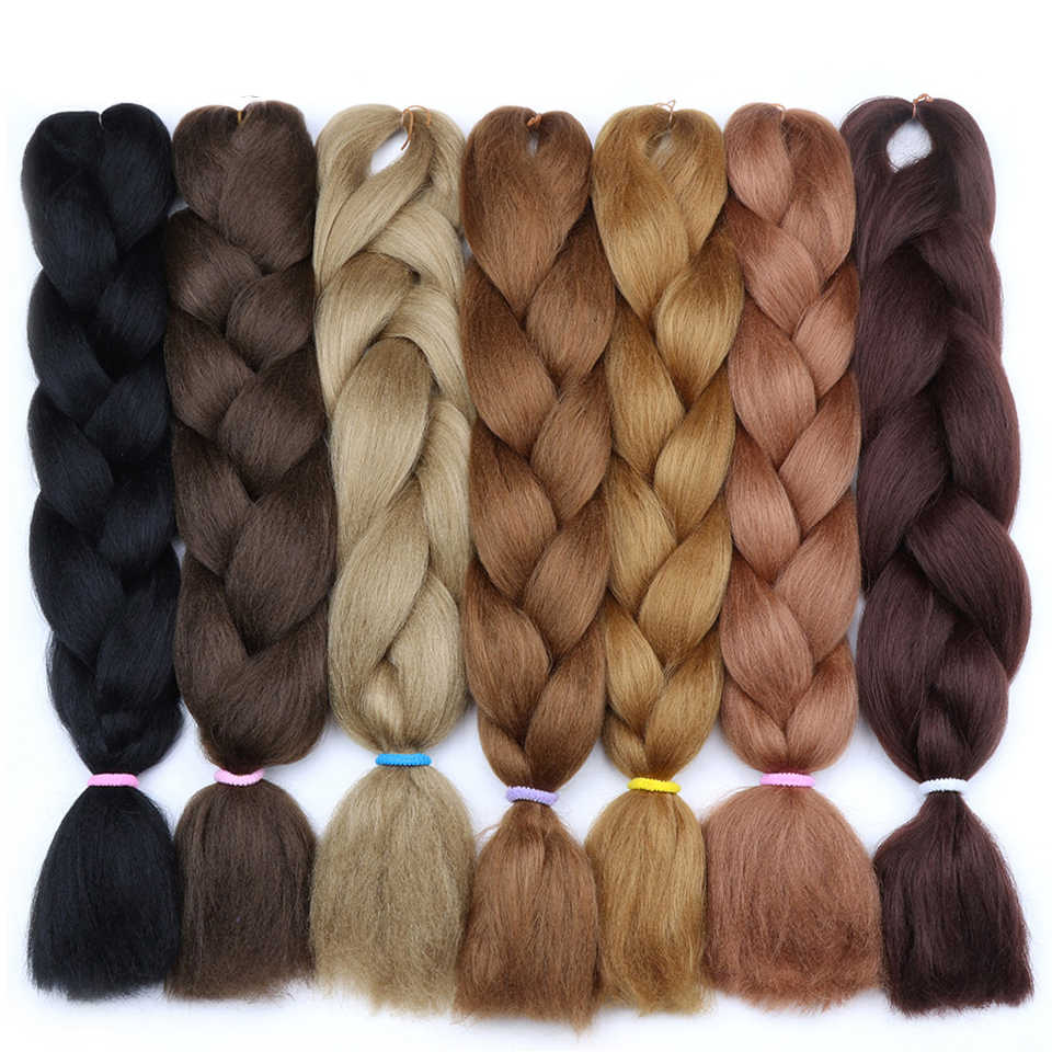 Magic 100g/Pcs Ombre Synthetic Kanekalon Braiding Hair For Crochet Braids False Hair Extensions For Women 24 Inch Free shipping