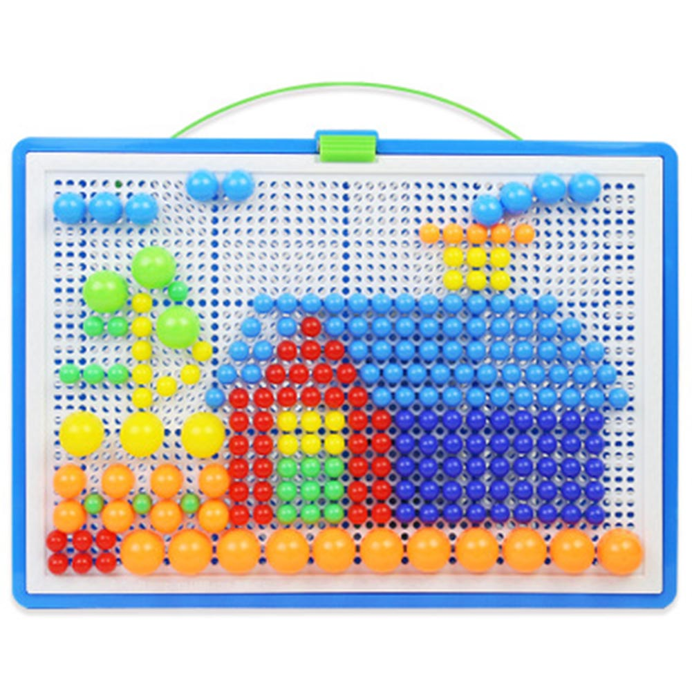 296Pcs Puzzle Pegboard For Kids Mushroom Nails Jigsaw Peg Game Toys For·Children