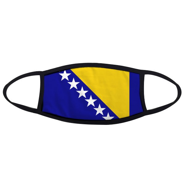 Bosnia And Herzegovina National Flag Country Mouth Face Anti-dust Mask Anti Cold Warm Washable Cotton Gift