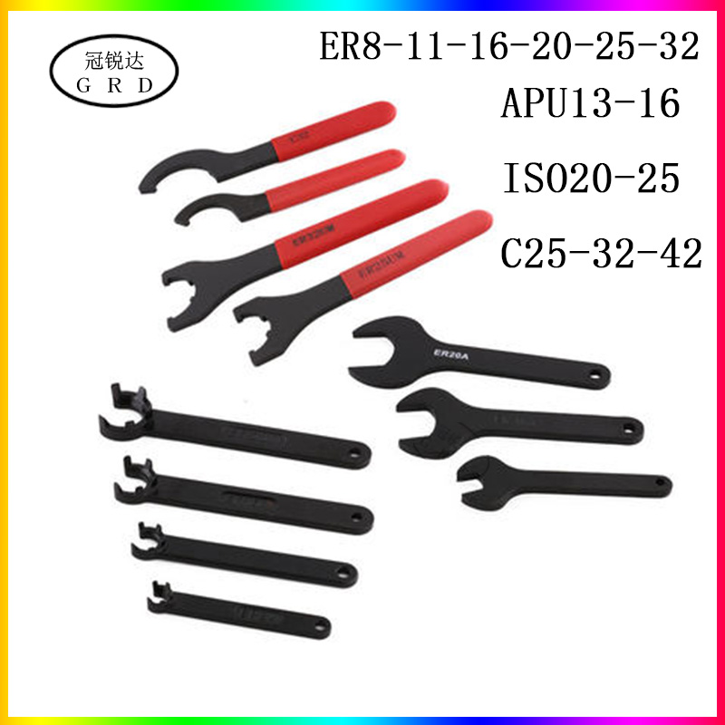 apu er iso c series collet <font><b>wrench</b></font> er8 er16 <font><b>er20</b></font> er25 er32 apu13 apu16 iso20 25 c25 c32 c42 chuck <font><b>wrench</b></font> are suitable for nuts image