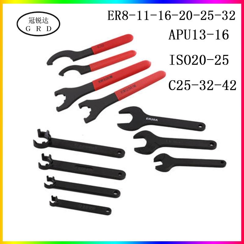 Apu Er Iso C Series Collet Wrench Er8 Er16 Er20 Er25 Er32 Apu13 Apu16 Iso20 25 C25 C32 C42 Chuck Wrench Are Suitable For Nuts